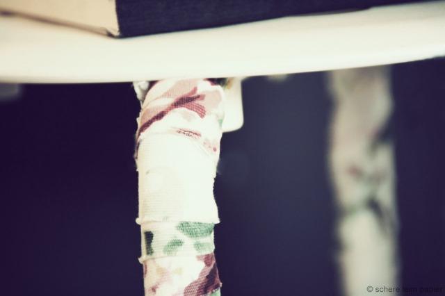 bunte Beine Detail