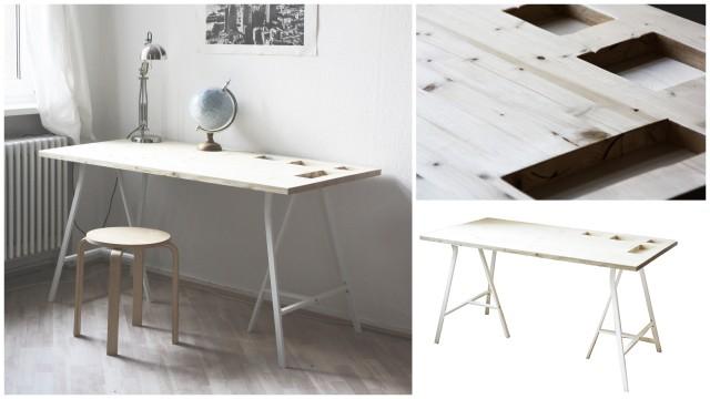 DIY Schreibtisch aus Holz mit Storage