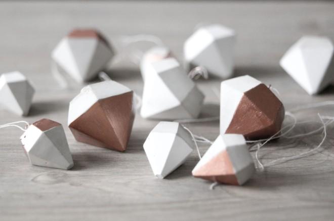 diy kupfer beton anh nger in diamantenform schereleimpapier diy blog f r wohnen geschenke. Black Bedroom Furniture Sets. Home Design Ideas